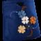 Lacivert Üzeri Renkli Çiçekli Keçe Çanta