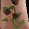 Açık Kahverengi Üzeri Kırmızı Çiçekli Keçe Çanta